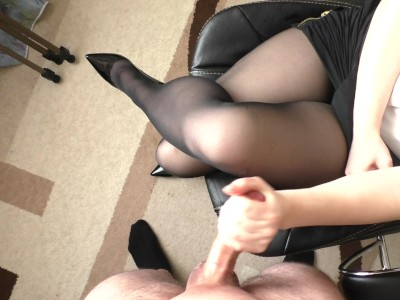 lingerie stockings handjob Bukkake