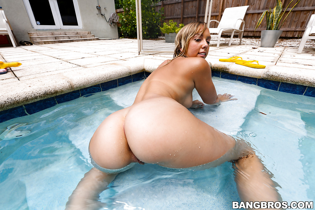 Wet bondage outdoor ass