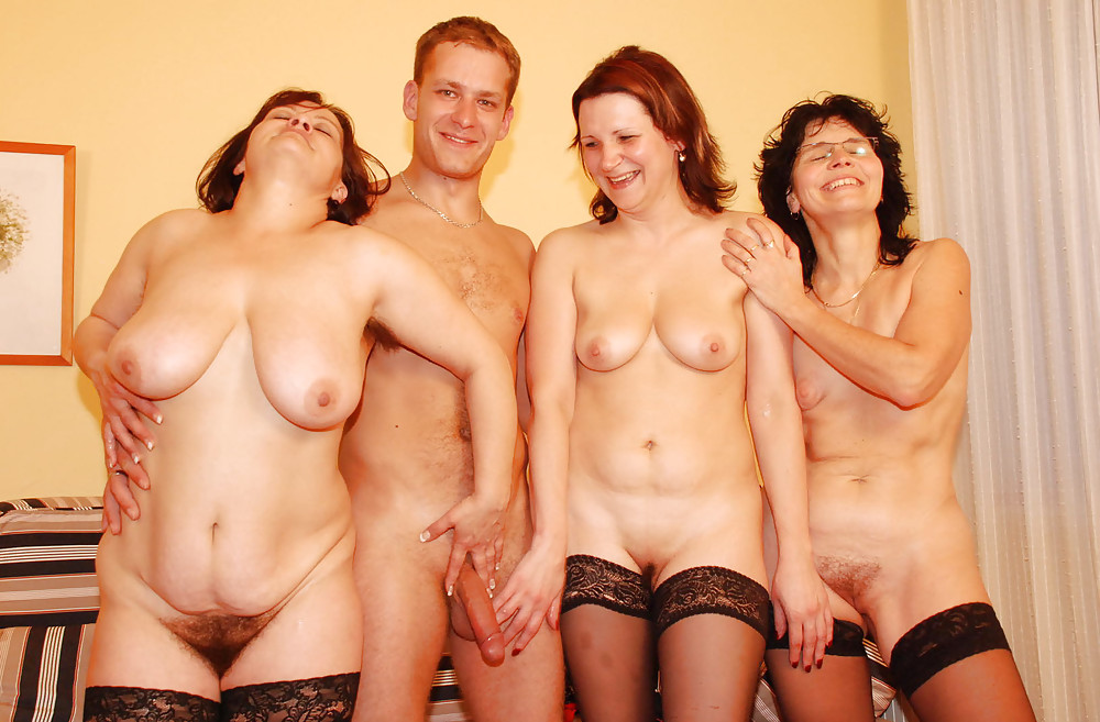 Retro hairy party talking dirty