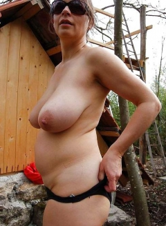 POV Saggy grannies tits titjob