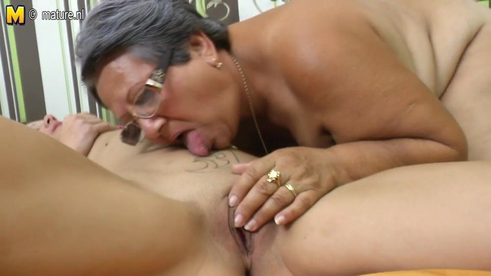First time sexy licking old