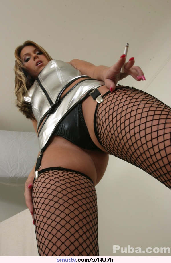 lingerie Fishnet spitroast domination