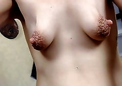 throat first tits time Saggy piercing